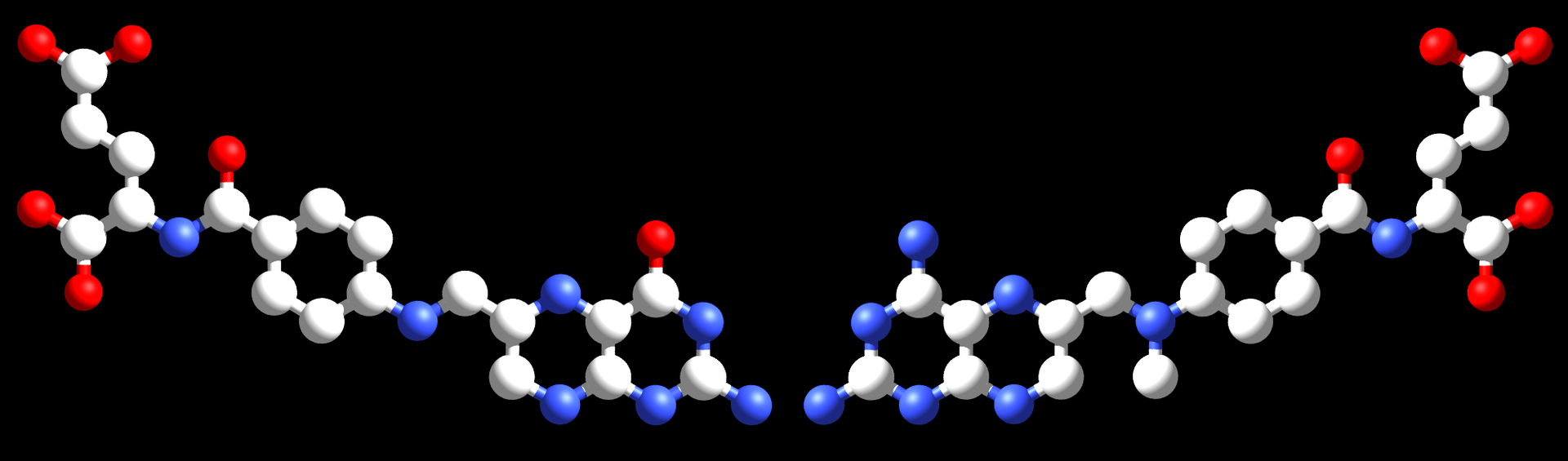 The drug methotrexate (right) is an antimetabolite that interferes with the metabolism of folic acid (left).