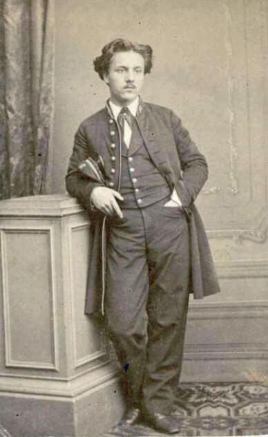 Fauré as a student, 1864