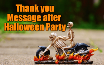 Heartfelt Thank you Message after Halloween Party
