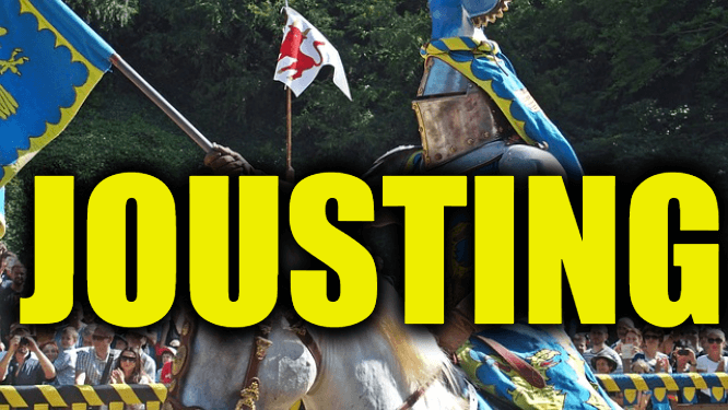 """Use Jousting in a Sentence - How to use """"Jousting"""" in a sentence"""