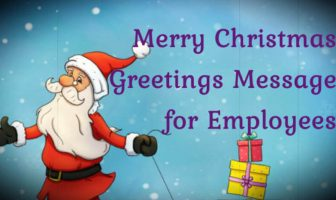 Merry Christmas Greetings Message for Employees