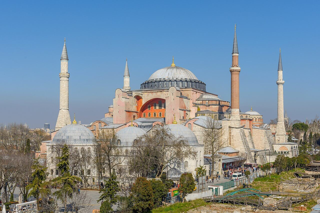 Exterior view of the Hagia Sophia, 2013