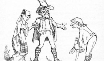 """One of Gilbert's illustrations for """"Gentle Alice Brown"""""""
