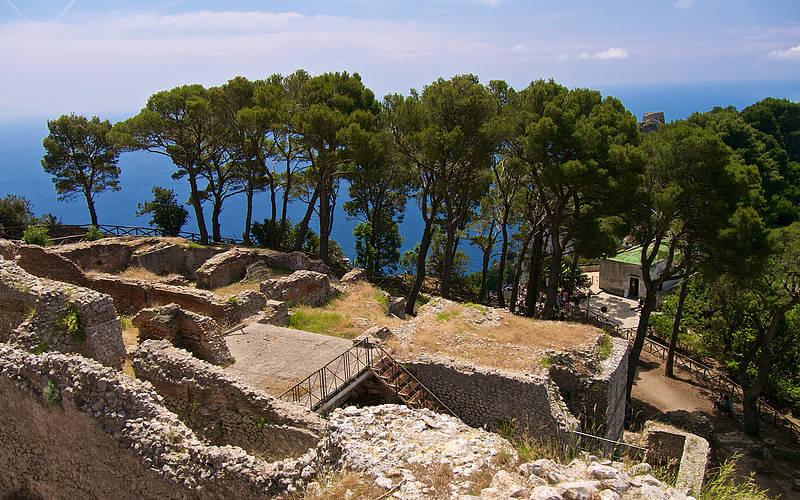 Ruins of one of Tiberius' villas on Capri