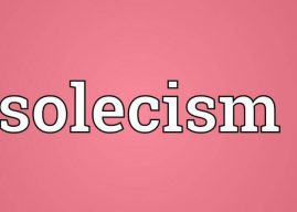 Solecism in a Sentence