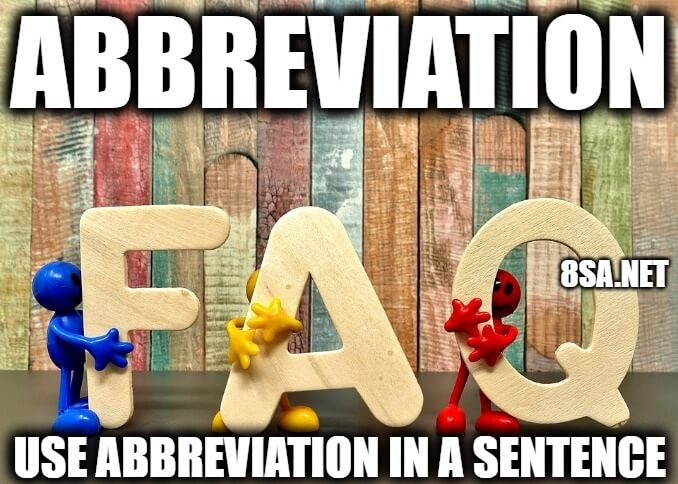 Abbreviation in a Sentence