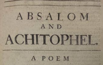 Absalom and Achitophel Poem Analysis