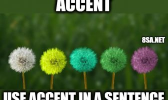 Accent in a Sentence