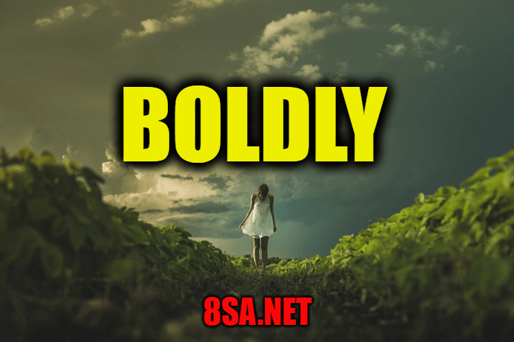 Boldly in a Sentence