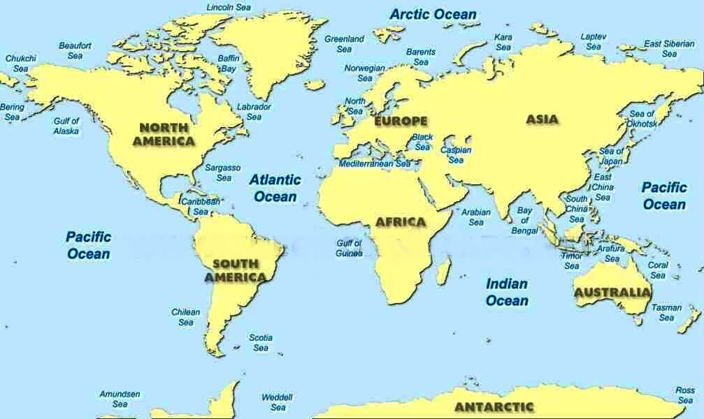 Oceans Map