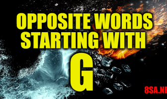 Opposite Words Starting With G