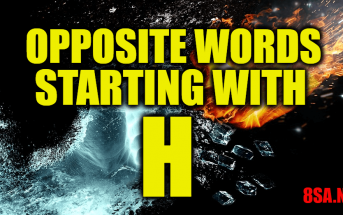 Opposite Words Starting With H