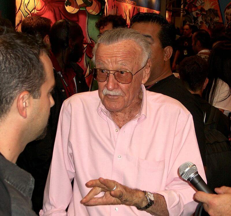 Lee promoting Stan Lee's Kids Universe at the 2011 New York Comic Con