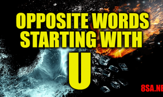 Opposite Words Starting With U