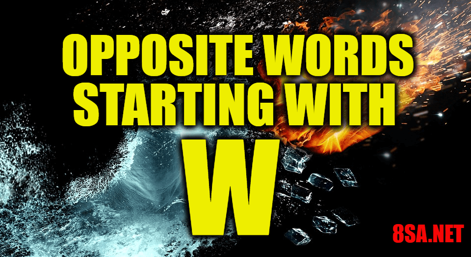 Opposite Words Starting With W