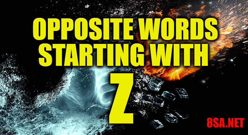 Opposite Words Starting With Z