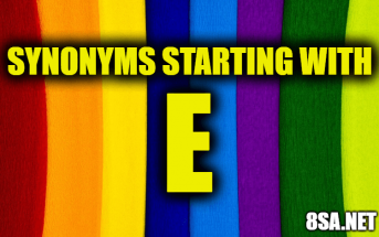 Synonyms starting with E
