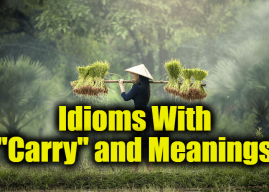"Idioms With ""Carry"" and Meanings – Idioms about ""Carry"" and expressions"