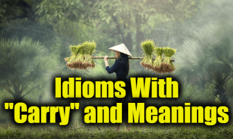"Idioms With ""Carry"" and Meanings - Idioms about ""Carry"" and expressions"