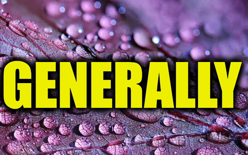 """Use Generally in a Sentence - How to use """"Generally"""" in a sentence"""