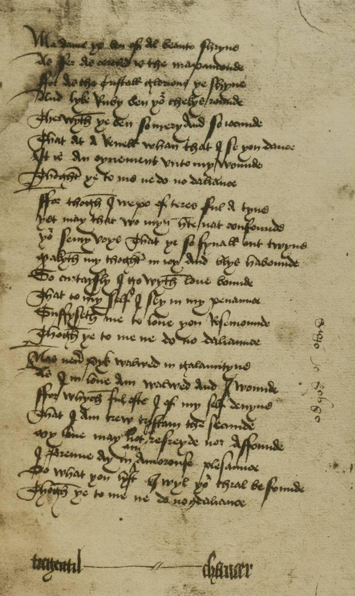 Balade to Rosemounde, 1477 print