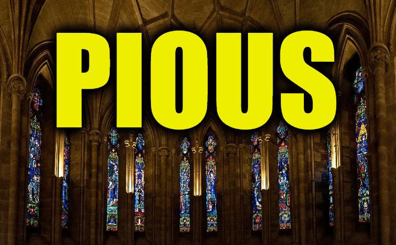 "Use Pious in a Sentence - How to use ""Pious"" in a sentence"