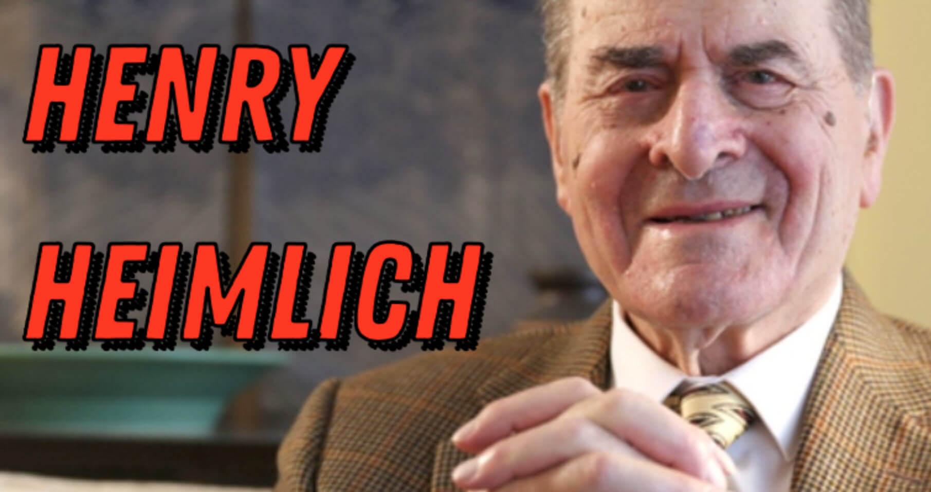 Henry Heimlich Biography - Inventor of the Heimlich Maneuver