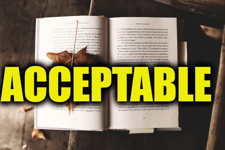 """Use Acceptable in a Sentence - How to use """"Acceptable"""" in a sentence"""