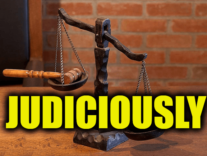 """Use Judiciously in a Sentence - How to use """"Judiciously"""" in a sentence"""