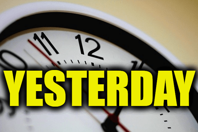 """Use Yesterday in a Sentence - How to use """"Yesterday"""" in a sentence"""