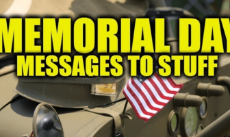Memorial Day Message to Staff