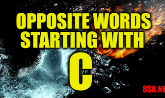 Opposite Words Starting With C