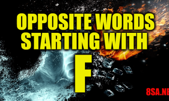 Opposite Words Starting With F