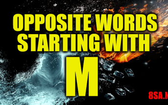 Opposite Words Starting With M