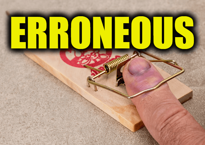 """Use Erroneous in a Sentence - How to use """"Erroneous"""" in a sentence"""