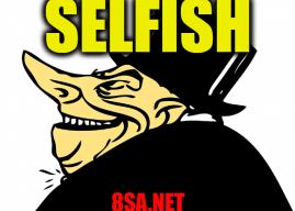 Selfish in a sentence