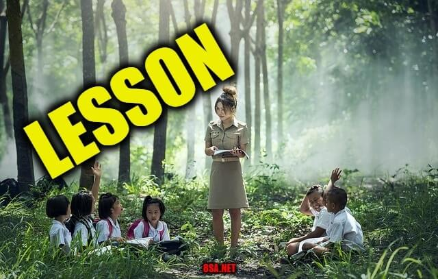 Lesson - Sentence for Lesson - Use Lesson in a Sentence