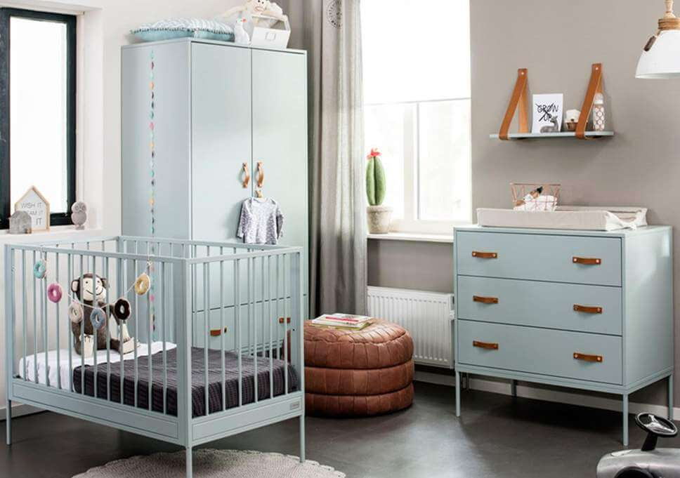 Keep babies' crib away from the direct pathways of the air-conditioning unit and heating vents