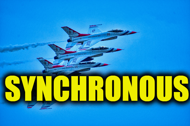 "Use Synchronous in a Sentence - How to use ""Synchronous"" in a sentence"