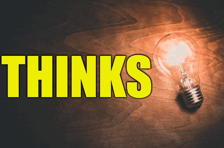 """Use Thinks in a Sentence - How to use """"Thinks"""" in a sentence"""