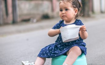 Potty may seem scary for some toddlers, so it is best to help them be familiar with the toilet at an early age