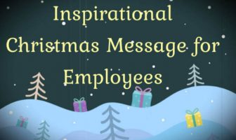 Inspirational Christmas Message for Employees