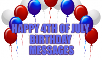 Happy 4th of July Birthday Messages, Birthday Wishes Greetings